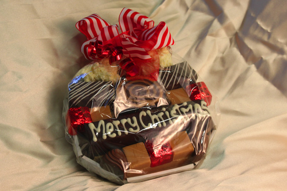 Small christmas gift basket buy handcrafted fudge gifts